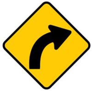 Free texas traffic signs test permit practice signs 2 winding road ahead publicscrutiny Images