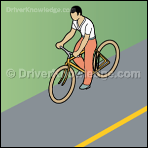 Ride bicycle close to the right curb