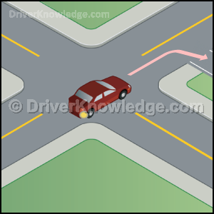 turn right to a driveway