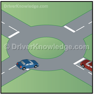 approach a roundabout