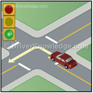 tires pointed when turning left