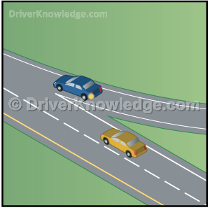 in highway a vehicle is attempting to merge into your lane