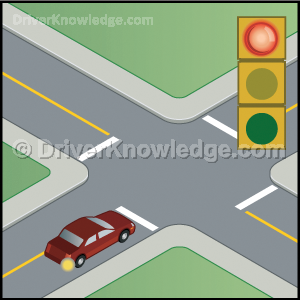 turning right on red light